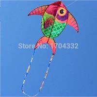 Outdoor Fun Sports NUEVA Lista Roja Fat Fish Kite/Cometas Con Cadena Y Mango Buen Vuelo de Dibujos Animados