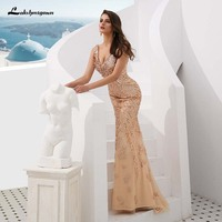 2019 с открытыми плечами вечерние платья блестками платье Русалка на выпускной индивидуальный заказ Vestidos De Noiva