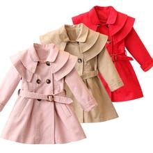 New Girls jacket children s clothing girl trench coat kids jacket hooded girl coats Winter Trench