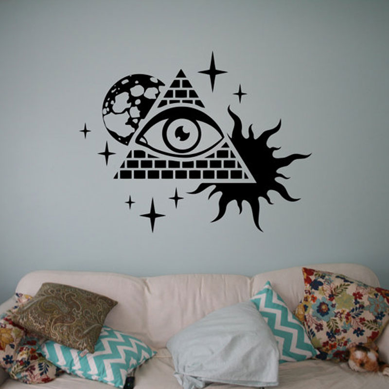 Skyrim Wall Decal With Creative Symbols All Seeing Eye