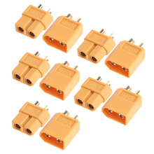 Lower Price 5Pairs XT60 Male Female Plugs Bullet Connectors for RC Lipo Battery New Hot