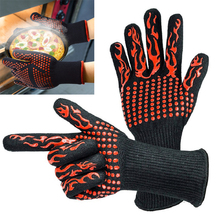 Silicone Gloves Oven-Mitts Horno Potholders Grill BBQ Baking Kitchen for Guantes 1-Pair