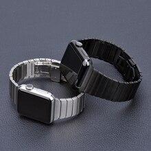Ремешок из нержавеющей стали для Apple Watch ремешок 44 мм 40 мм iWatch ремешок 42 мм/38 мм Бабочка Пряжка металлический браслет Apple watch 5 4 3 21
