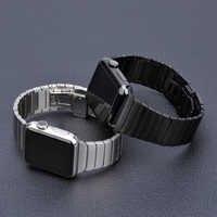 Cinturino in Acciaio Inox per Apple Watch band 44 millimetri 40 millimetri iWatch fascia 42 millimetri/38 millimetri Farfalla fibbia bracciale in metallo di Apple orologio 5 4 3 21