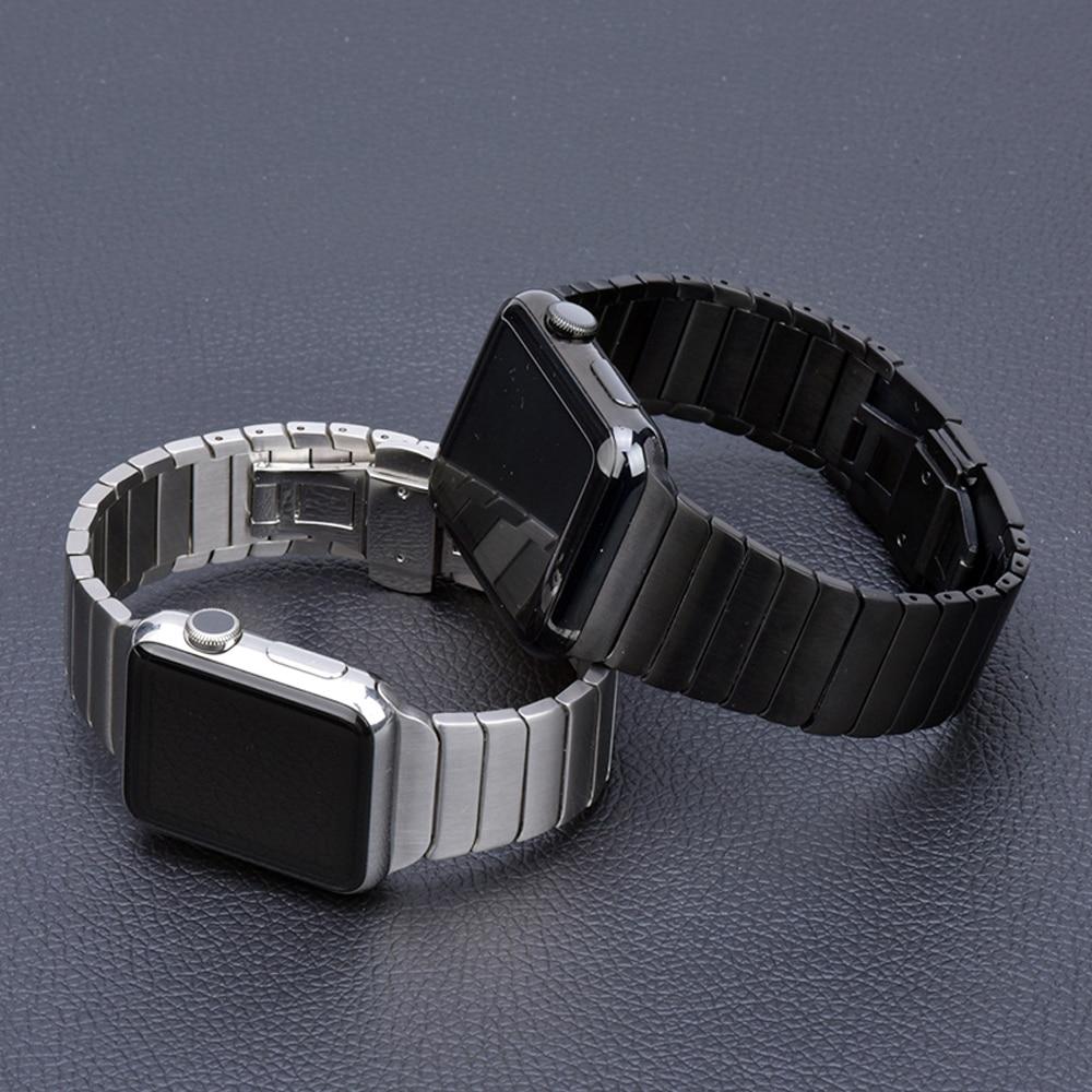 Correa de acero inoxidable para Apple Watch banda 44 mm 40mm iWatch correa de 42mm/38mm mariposa hebilla Metal Apple watch 5 4 3 21