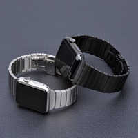 Edelstahl strap für Apple Uhr band 44 mm 40mm iWatch band 42mm/38mm Schmetterling schnalle metall Armband Apple uhr 5 4 3 21