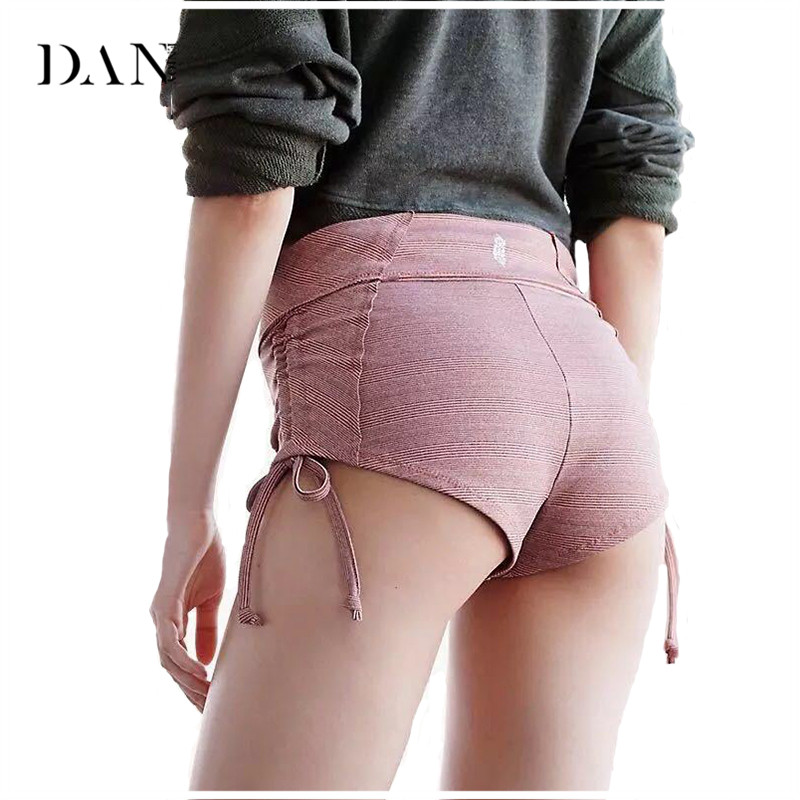 Women Drawstring Yoga Safety Short Pants Professional Gym