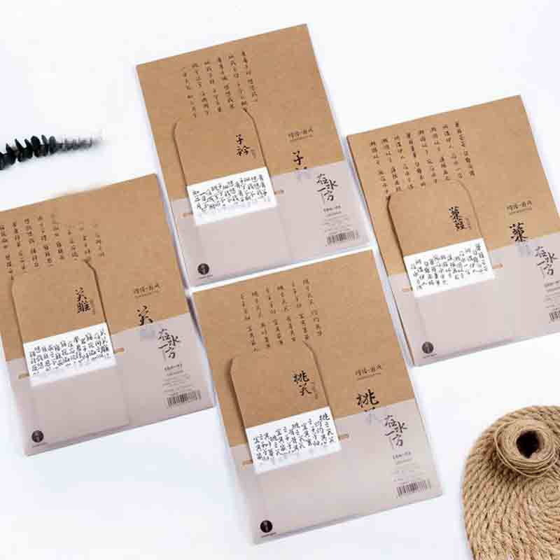 Alert 1 Pack Kawaii Chinese Poetry Diy Envelope Retro Kraft Paper Envelopes Gift Card Office Stationery Supplies Material Escolar High Safety