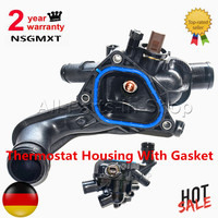 AP02 2 Year Warranty Thermostat Housing With Gasket For BMW Citroen C4 Mini Cooper Peugeot 207 308 3008 5008 11537534521 1336.Z6