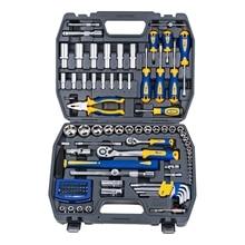 Набор ручного инструмента KRAFT КТ 700678 (109 предметов, торцевые головки, отвертки, удлинители, торцевые головки, кейс)
