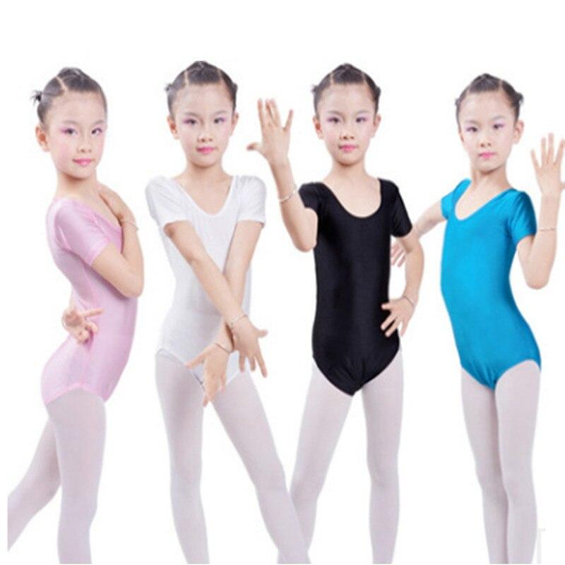 8-15Y Kid Girls Ballet Gymnastics Jumpsuit Leotard Bodysuit Dancing Clothes Wear