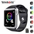Tinymons kol saati telefon Bluetooth akıllı saatler SIM TF kart kamera akıllı çağrı saati IOS Android telefonlar için A1