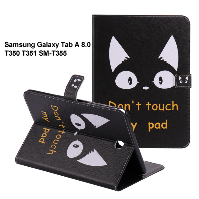 """For GALAXY Tab A 8.0 Protective leather cover case For samsung GALAXY Tab A 8.0 SM-T350 T351 T355 8"""" tablet Cases SM-T355 P350"""