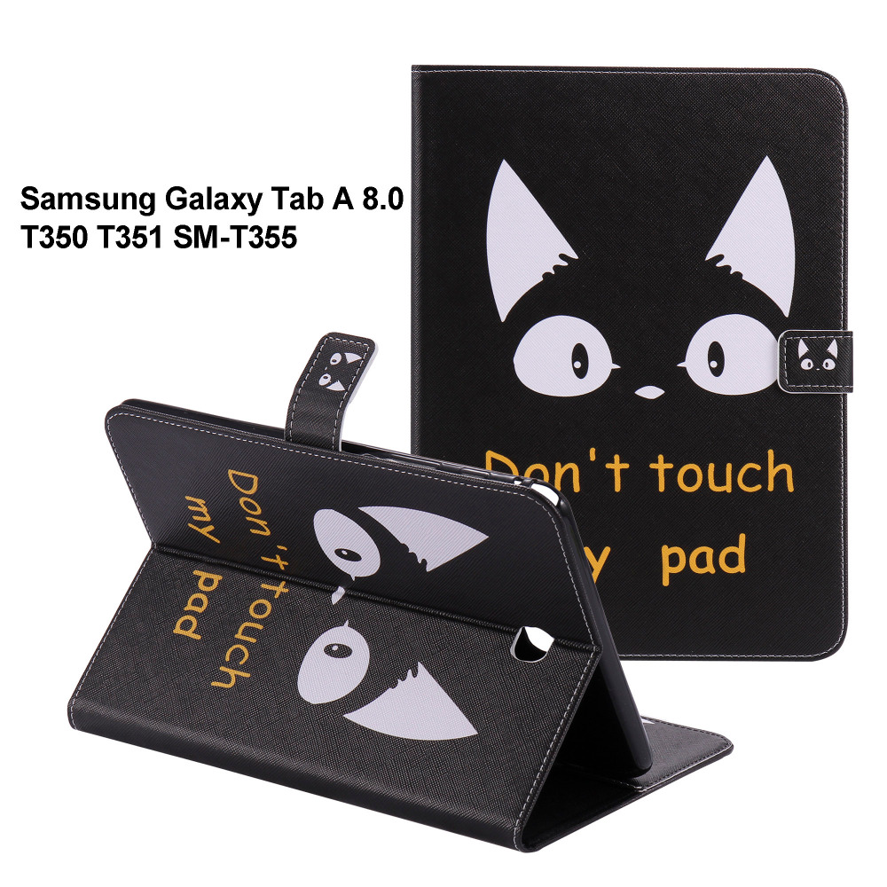 ba85eb5999d Para GALAXY Tab 8.0 caso capa Protetora de couro Para samsung GALAXY Tab  8.0 T351 SM-T350 T355 8 Casos tablet SM-T355 P350