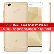 Original Xiaomi Redmi 4X 4 X Smartphone 2GB RAM 16GB ROM Snapdragon 435 Octa Core MIUI 8.2 Fingerprint ID 4G FDD LTE 13MP Camera(China)