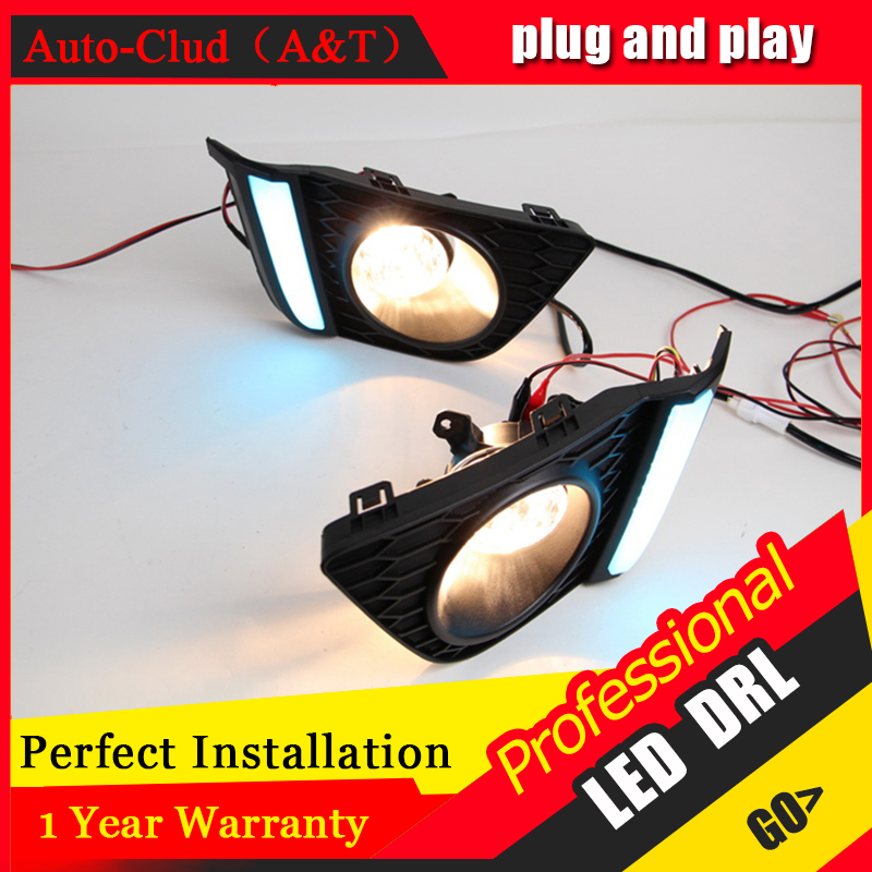 Auto Clud car styling For Honda FIT LED DRL For Honda FIT High brightness guide LED DRL led fog lamps daytime running light Fog novsight 2pcs set auto car led drl daytime running light turn singal fog lamp white yellow for honda fit 14 16 free shipping