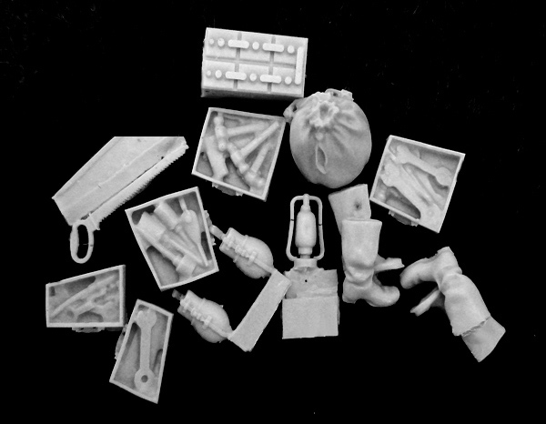 1/35 Resin Soldier Scene Accessories Rationing And Other Objects With A Toolbox