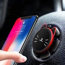 Suporte magnético de telefone para carro, volante, carro, suporte de telefone móvel em 360 graus, rotação, suporte com navegação gps, para iphone x