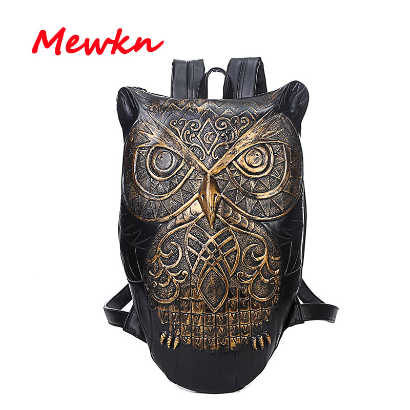 Owl Print Backpacks Women Backpacks Men Backpack 3D Printing Owl Women School Bags For Teenagers High Capacity Men Travel Bag