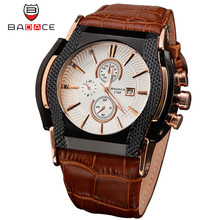 Luxury Brand BADACE Quartz Watches Men montre Date Business Men Watch Leather Strap Sport WristWatch Relogio Masculino