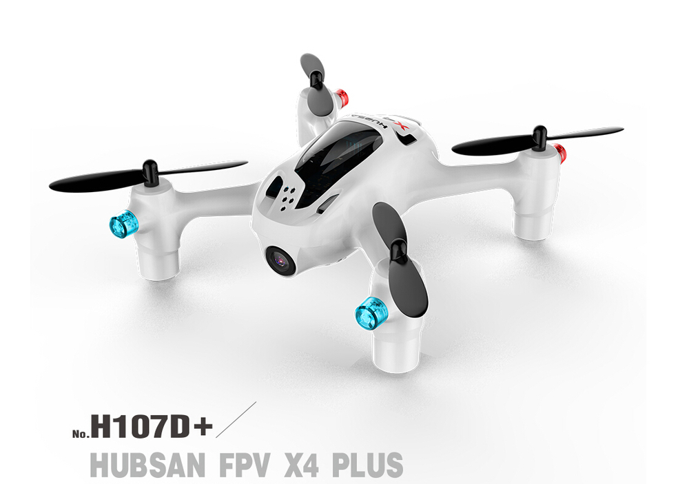 F16767 Hubsan FPV X4 Plus H107D+ with 720P HD Camera 6-axle Gyro RC Quadcopter RTF hubsan x4 camera plus h107d 520mah battery