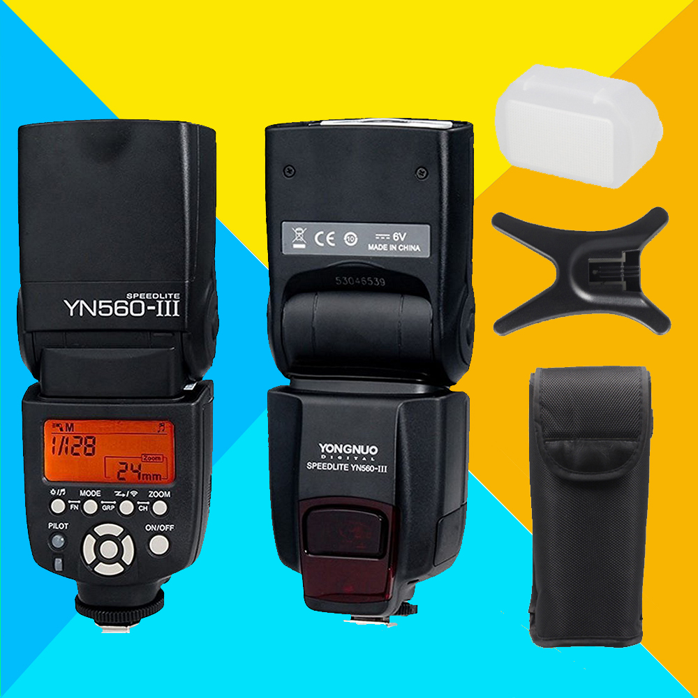 YONGNUO YN560 III YN560III Speedlite For Canon Nikon Pentax Olympus Panasonic Sony Camera Flash Speedlight YN-560 III YN560-III 2017 new meike mk 930 ii flash speedlight speedlite for canon 6d eos 5d 5d2 5d mark iii ii as yongnuo yn 560 yn560 ii yn560ii