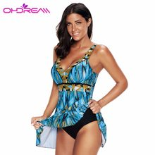 4554c73b33 OHDREAM One Piece Swim Skirt Plus Size Women Bikini Mujer Verano Push Up  Bathing Suit Beachwear Dress 2018 Sexy Swimsuit -G
