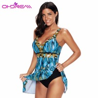 OHDREAM One Piece Swim Skirt Plus Size Women Bikini Mujer Verano Push Up Bathing Suit Beachwear Dress 2018 Sexy Swimsuit G