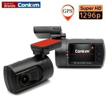 Conkim Auto Camera Super HD 2304*1296P Ambarella A7 GPS G-sensor Support Dual TF Card LDWS Car DVR CPL Parking Guard Mini 0806