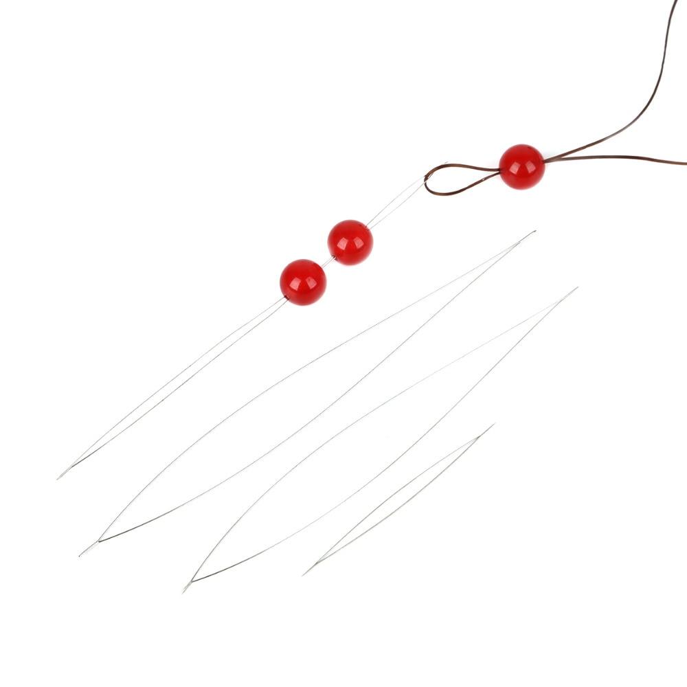 5pcs 5 Sizes Beading Needles Threading String Cord Jewelry Necklace Making Tool