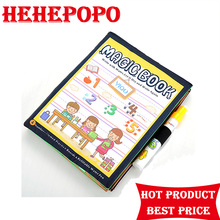 2017 Hot Sale Real Number Learning Educational Drawing Book Magic Water Pen Coloring Painting Toys For Chidren Kids