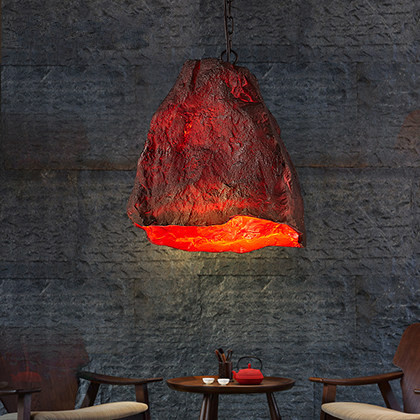 Novelty Volcanic Stone LED Pendant Lamp Reisn Hemp Rope Creative Droplight Hanglamp Fixtures For Home Lightings Cafe Living Room hemp rope novelty candy led pendant lamp reisn creative droplight modern hanglamp fixtures for home lightings cafe living room