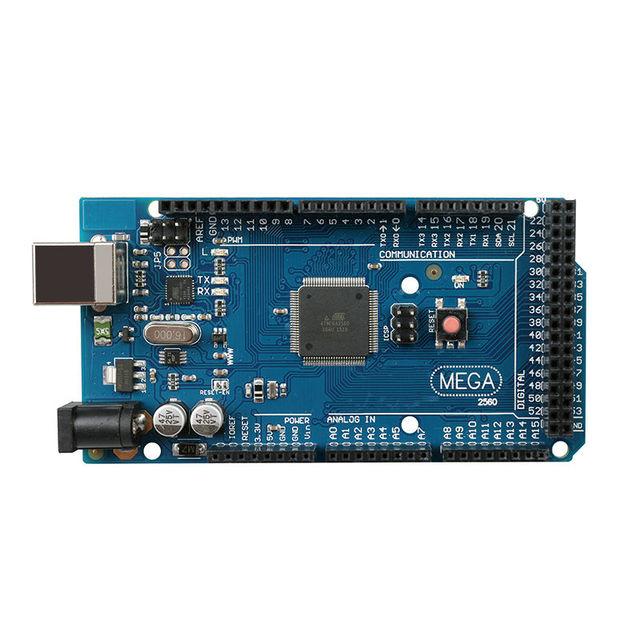 Mega 2560 R3 Board 2012 Versão Offcial com ATMega 2560 Chip ATMega16U2 para Arduino Motorista Integrado com Saco Anti Estática