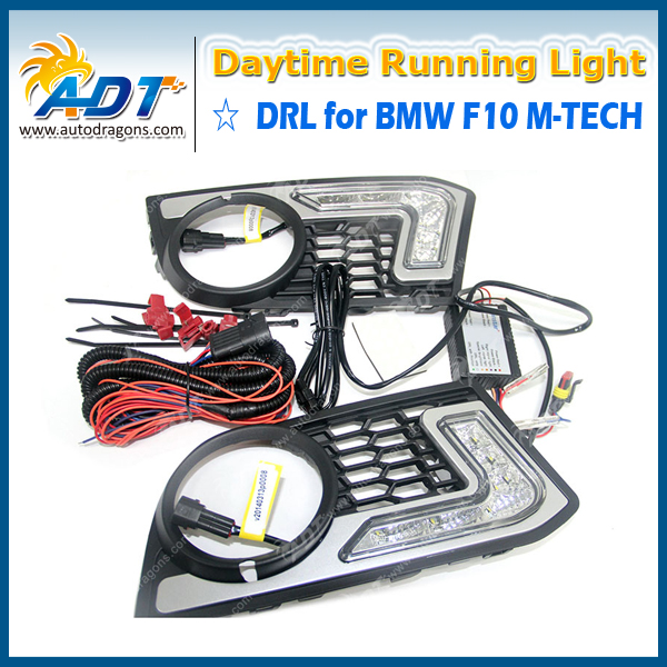 12V SMD Xenon white auto led daytime running light function DRL Pure White for BMW F10 M-TECH 7000k xenon white 16w high power led daytime running lights kit for bmw 2010 2013 f10 528i 535i 550i m tech bumper only