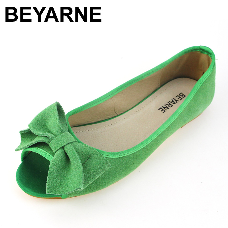 BEYARNE spring summer sweet open toe women single shoes genuine leather flats soft bottom ballet shoes woman sandals size 35-43 soft leather christy lace up flats pointed toe ballet loafers spring summer shoes woman cross strappy casual gladiator sandals