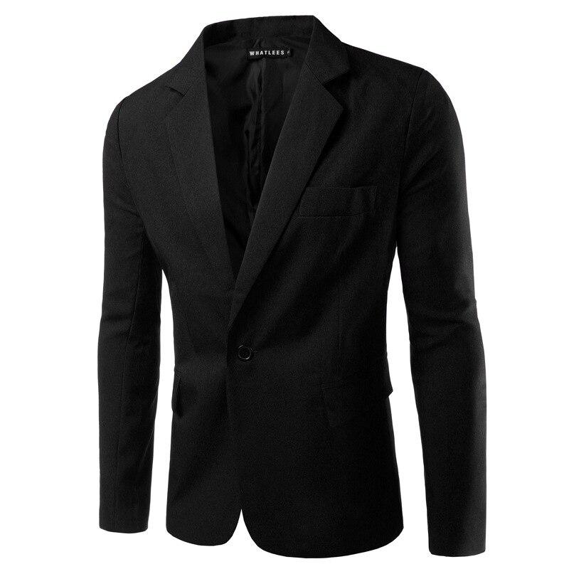 AI men WANT, новинка, 8 цветов, мужские тонкие свадебные костюмы для жениха, для подростков, модный синий деловой костюм, пиджаки, мужские, винно-красные блейзеры - Цвет: Черный