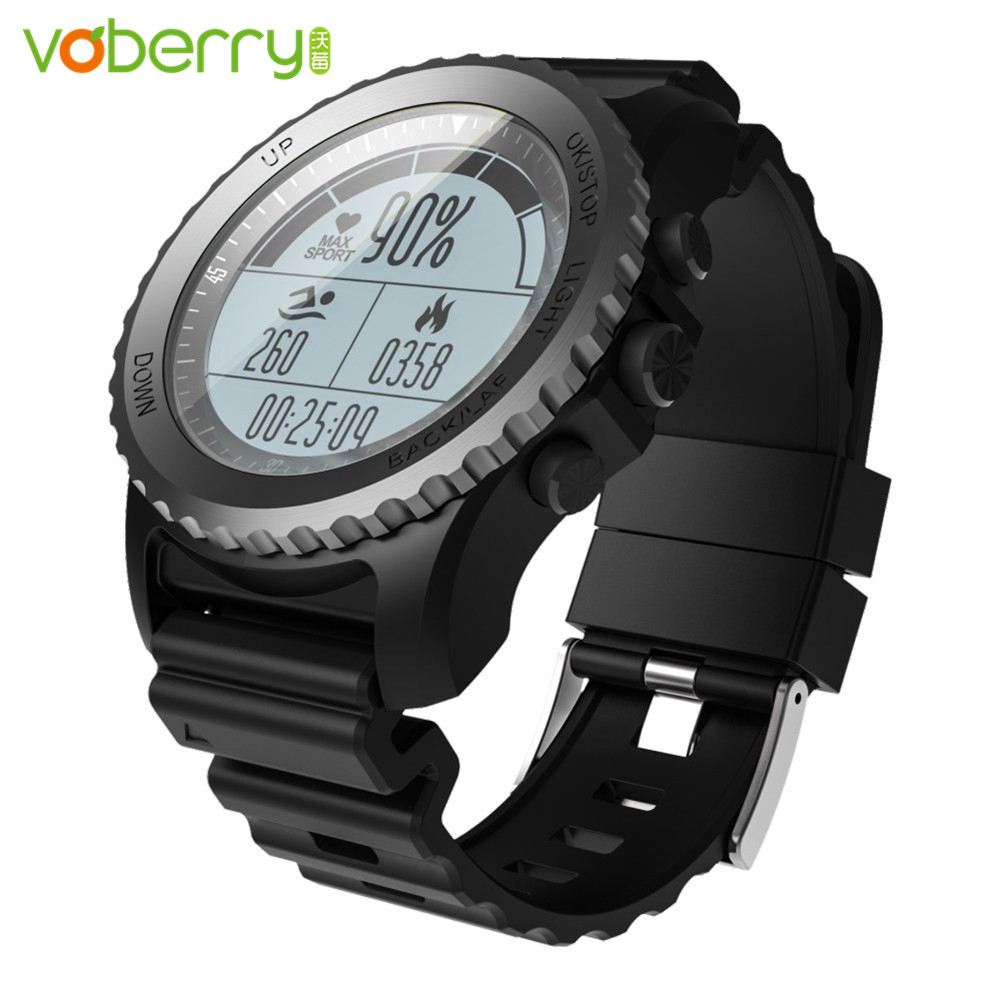 VOBERRY S968 Smart Watches Bluetooth Smartwatch Waterproof IP68 Support GPS Heart Rate Monitor Multi-sport Smart Watch Men no 1 f2 ip68 bluetooth smartwatch green