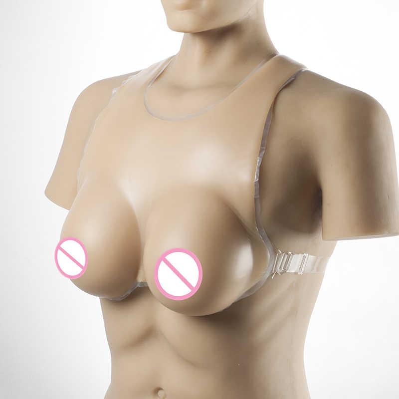 Drag Queen Shemale Fake Boob Verbeteren 2000 g/paar Crossdresser Borsten Strap-On Realistische Siliconen Borstprothesen Voor Mannen