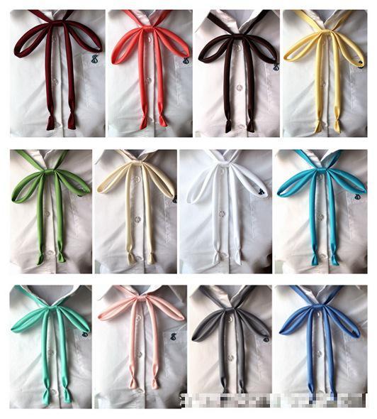 Kawaii Women's Color Japanese School Uniform Sailor Suit Shirt Accessories Jk Bow Tie Uniform Long Bowtie Ties Students Necktie