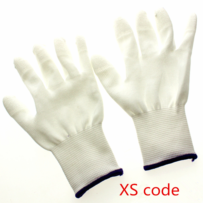 Image 2 - 100pairs Antistatic Gloves Anti Static ESD Electronic Working Gloves pu coated finger PC Antiskid for Finger Protection-in Safety Gloves from Security & Protection