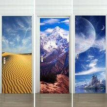 3D Door Waterproof Self Adhesive Wallpaper