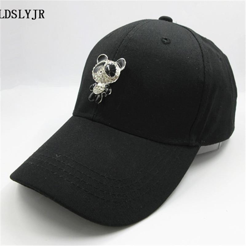 cotton metal font panda adjustable baseball cap philippines kung fu bear