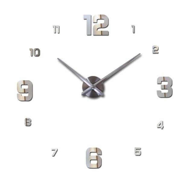 2017 real new watch 3d diy mirror stickers wall clock modern living room quartz metal clocks  home decoration watch