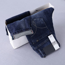 Free shipping 2017 new arrival jeans men Fashion elasticity men's straight jeans high quality Comfortable male pants NZ001