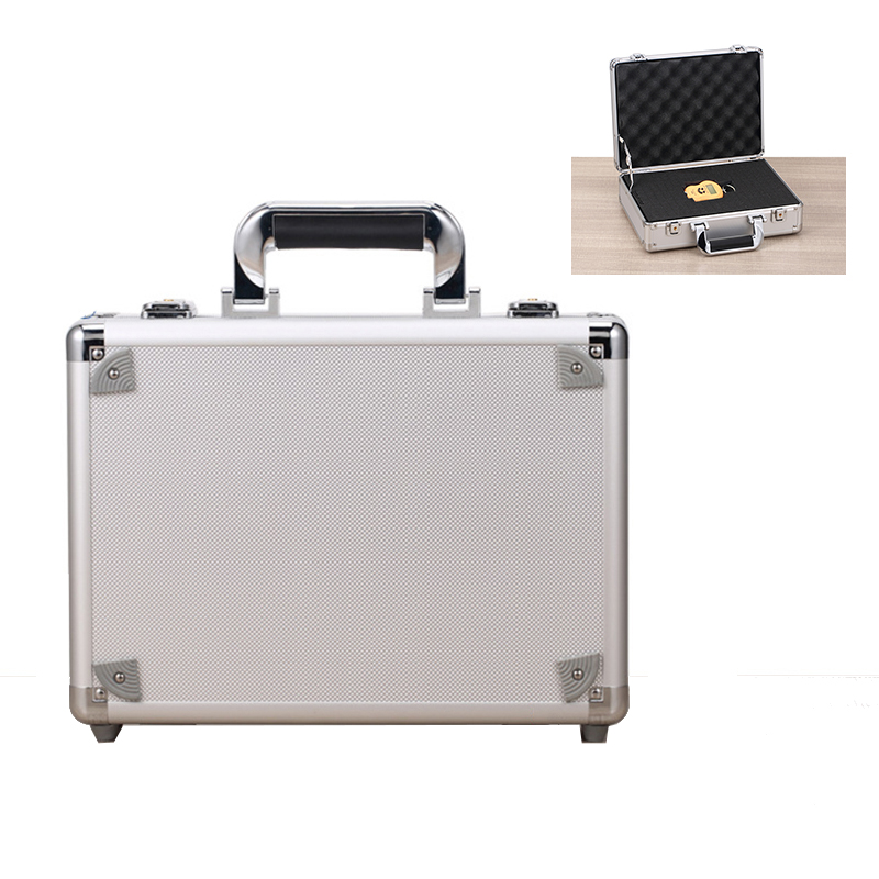 Toolbox Portable Aluminum Tool Box Instrument Box Safety Storage Case Instrument Box Suitcase With Sponge 330x240x100mm