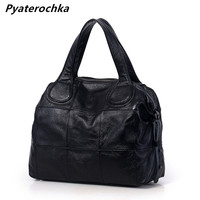 Pyaterochka Genuine Leather Handbags Large Capacity Women Casual Boston Shoulder Bags Luxury Totes Famous Brand 2019 Bag