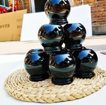 Traditionele Chinese Cupping 6pcs #3 Bruin Verdikte Glas Cupping Set Fire Cups Jar Zuigkracht gewichtsverlies(China)