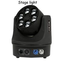 LED light small bee stage lighting LED small bee 6 bee eyes LED shaking head beam light bar theater lights 110V/220V