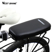 Soft PU Leather Cover Bike Back Seat Comfortable Bike Cushion Shockproof Seat Sella Cycling Bicycle Rear