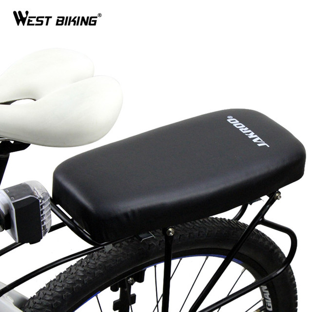 Us 14 82 43 Off Soft Pu Leather Cover Bike Back Seat Comfortable Bike Cushion Shockproof Seat Sella Cycling Bicycle Rear Saddle Bike Child Seat In